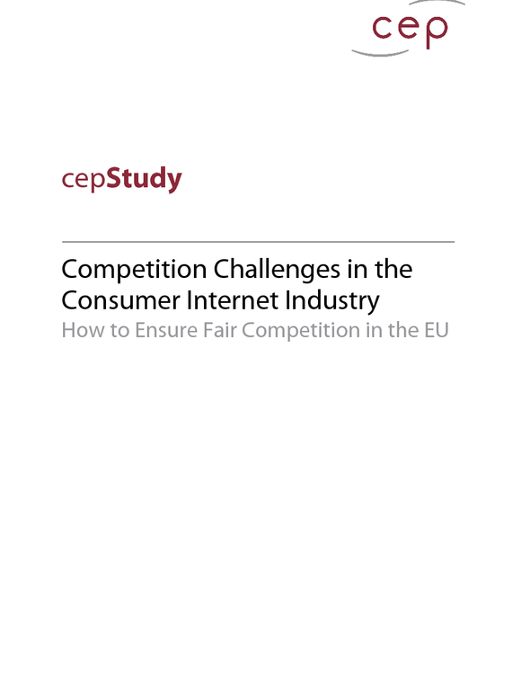 Competition Challenges in the Consumer Internet Industry