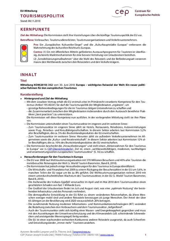 cep - Centrum für europäische Politik: Details